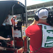 Shooting at the Indy 500 for IMS Production for their NBCSports program IndyCar Chronicles