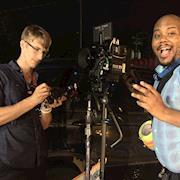 on set for Shemiek Moore's video BOUNCE.