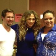 MTA Choreographer Liz Imperio with Jennifer Lopez, after her concert in Los Angeles, 2012.