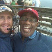 Al Roker and Russ, miserable but laughing