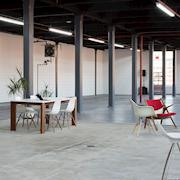 Client lounge, facing northwest.