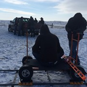 Matthews Doorway Dolly on Location from my company, Gator Grip & Lighting - South Dakota