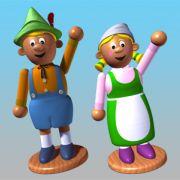 3d characters for Little Einsteins (Autodesk Maya, Adobe Photoshop)