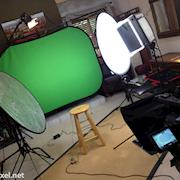 Green Screen Set Up on location