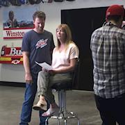 ESPN Mothers Day Special At Dale Jr's shop in Mooresville, NC