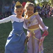 (costume on the left) Elsa (adjustable) from Disney's Frozen