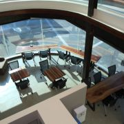 View of Redwood Cafe from Catwalk