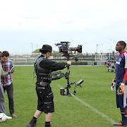 Shooting a commercial with a Red Epic on Steadicam.