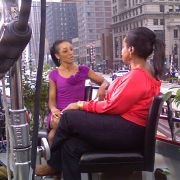 Behind the scenes of Access Hollywood Shaun Robinson (makeup and hair by Candace Corey) interview with Oprah