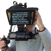 Portable TelePrompter rig.