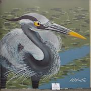 Giant Blue Heron Mural - first place