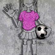 "sketch for my neighbor ""soccer player Angela"" (Pencil, Adobe Photoshop)"