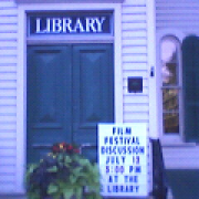Library where films were discussed in New Hope