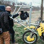 Motocross in a music video.