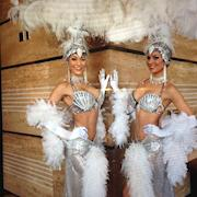 White Follies Showgirl Pair