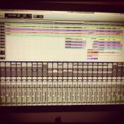 Table Top Joe mixing session