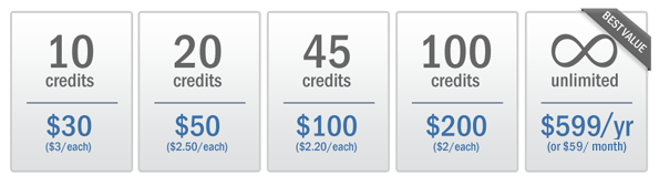 Credit Packages