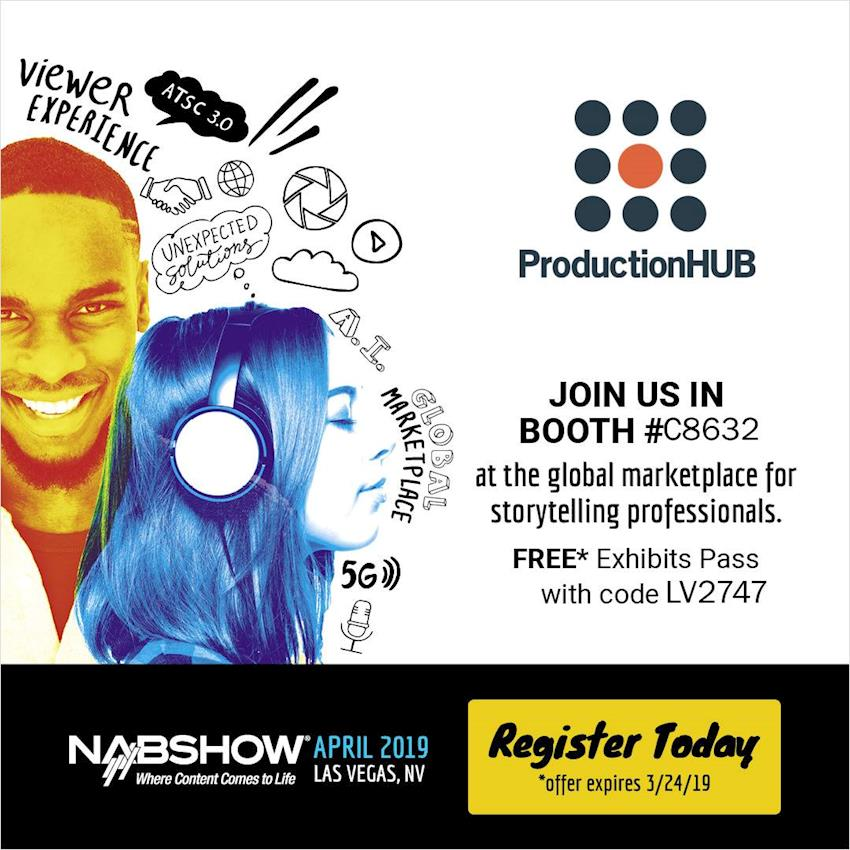 Attend NAB Show on us!