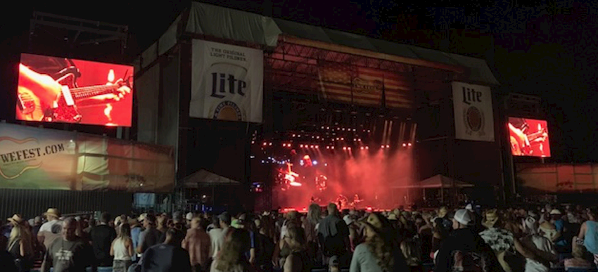 ATEM Constellation 8K Used for Live Production at Country Music's WE Fest