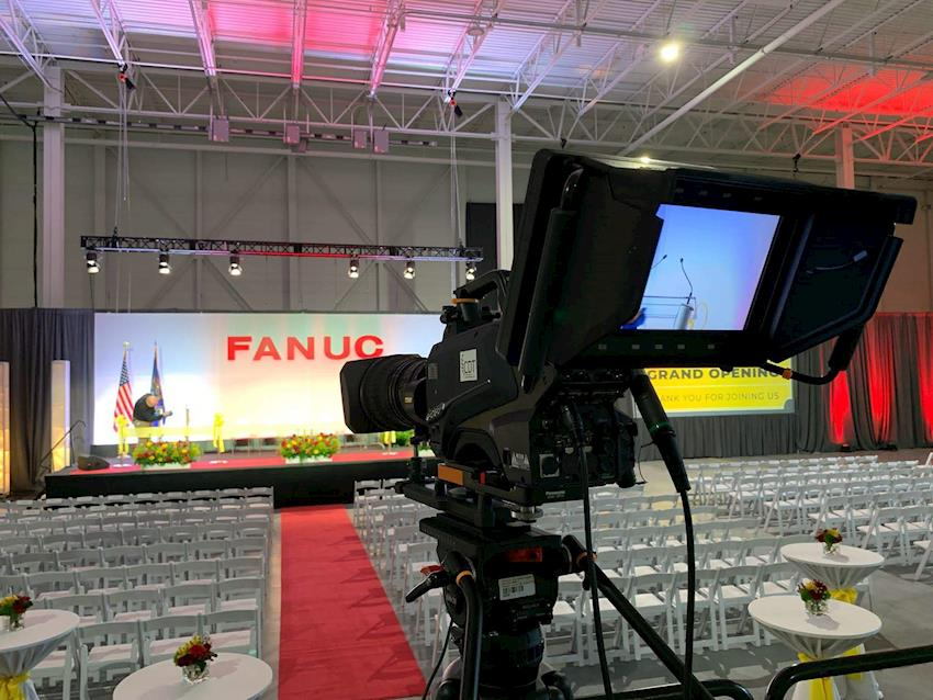 Creative Day Technologies Supports FANUC America Grand Opening with Panasonic AK-UC4000 4K/HDR Camera Systems