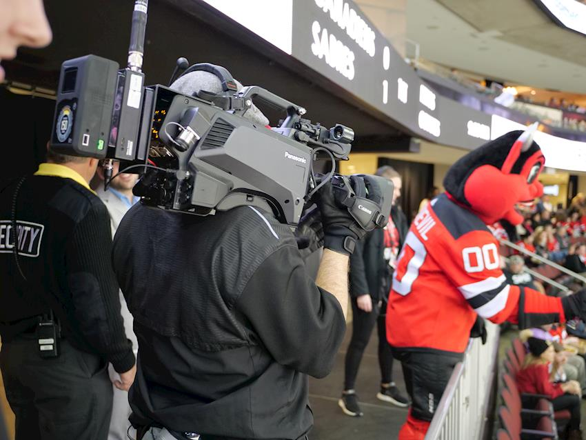 Panasonic AK-HC5000 HD HDR Broadcast Cameras Chosen to Capture NHL Hockey, Major College Basketball  for Prudential Center's World-Class Video Board