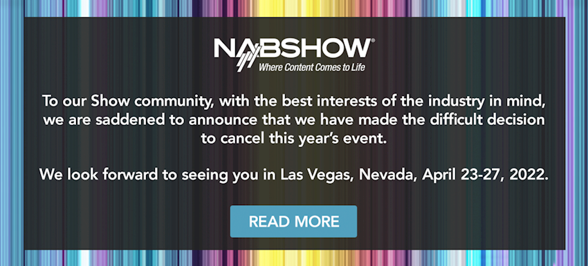 An Important Announcement from NAB Show