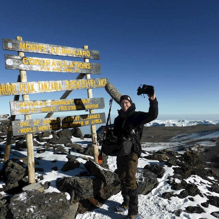 Sound Recordist Pete Lee Climbs Kilimanjaro with Stingray Backpack