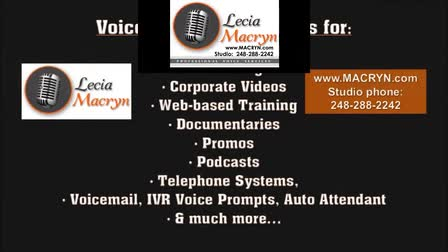 COMMERCIALS - VOICE-OVER DEMO