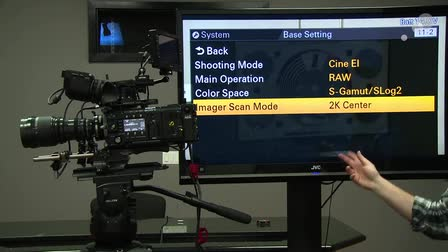 At the Bench: Sony F55 2K Center Scan Mode