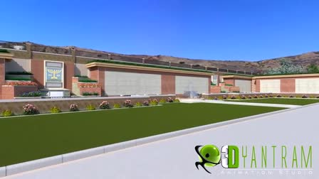 3d Exterior walkthrough ( Architectural Animation ) for courts of Abraham, California, USA