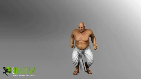 3D low Poly Cartoon Character Modeling & Rigging Animation