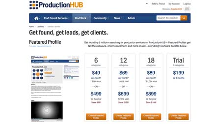 How to Use ProductionHUB to Find Work and Gain Clients
