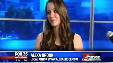Alexa Brook singing live on FOX Orlando
