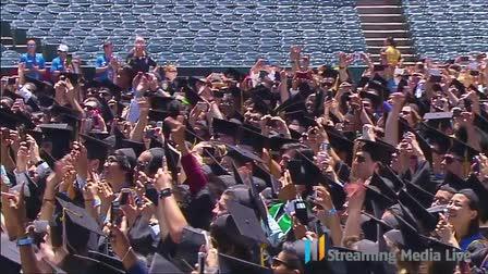 President Obama keynote address UC Irvine 2014 @ Angel Stadium