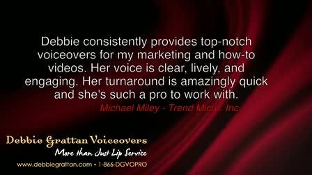 Narration Voiceover Demo - Debbie Grattan Voiceovers