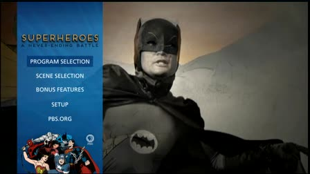 Superheroes Blu-ray Menu