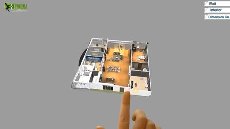 Virtual Reality Floor Plan Design for touch screen, VR Glasses & google cardboard experience