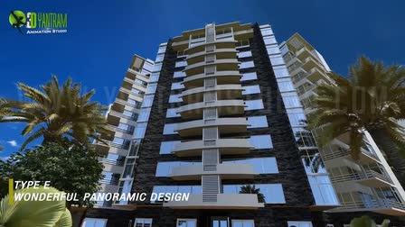Architecture walk through ( Virtual Tour ) for Commercial-Residential Building in Egypt