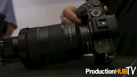 Sony a6300 Mirrorless Camera & G Master Lenses at Cine Gear 2016