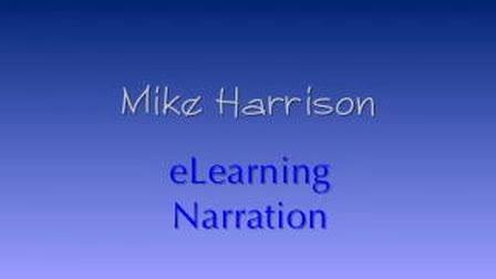 Mike Harrison eLearning Narration Demo