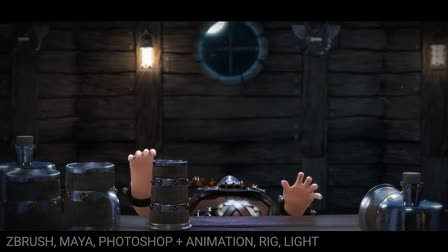 Character modelling demo reel