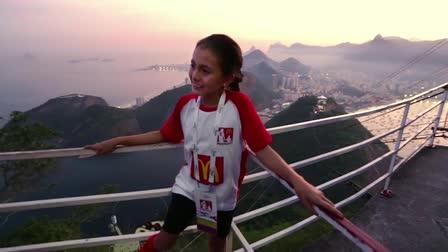 World Cup 2014, Brazil. McDonalds Player Escort