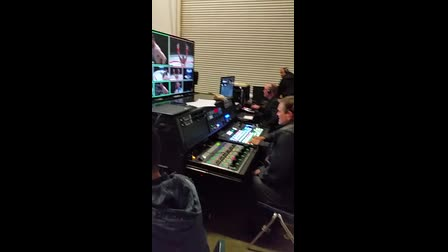Behind the scenes, Inside our Satellite Truck,  MMA fight U.C. Irvine