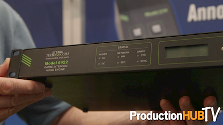 Studio Technologies Model 5422 Dante Intercom Audio Engine at NAB 2017