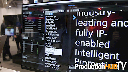 Autoscript Displays Intelligent Prompting IP Enabled Teleprompter System at NAB 2017