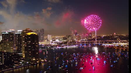 4th of July Aerial Footage Miami
