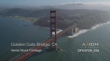 Golden Gate Bridge Aerial Stock Footage Vignette