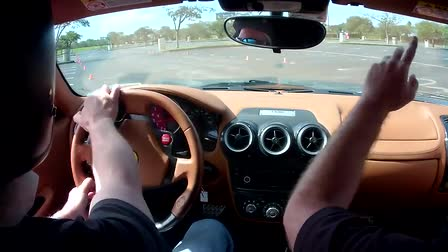 Let's take a ride in a Ferrari F430.