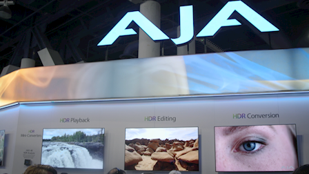 AJA Video Systems Expands on IP Workflows and Previews the HDR Image Analyzer at NAB 2018