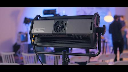 David Wells of Moving Picture Talks Litepanels Gemini Versatile 2x1 Soft Panel at NAB 2018